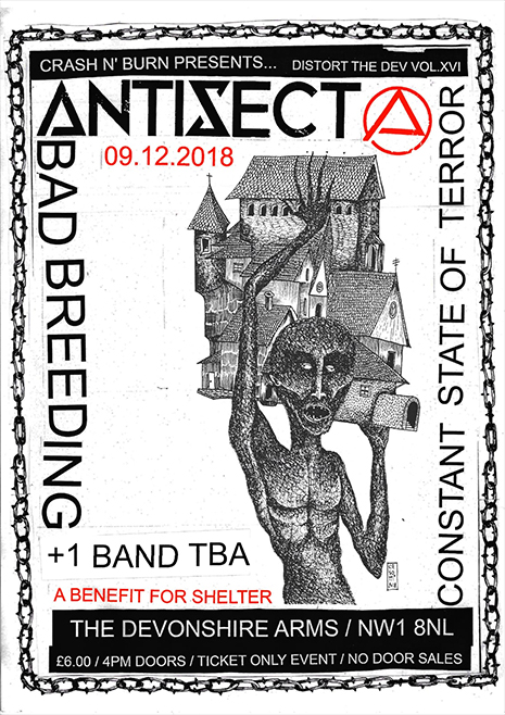 Antisect Distort the Dev Flyer