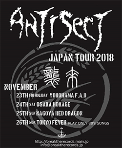 Antisect Japan 2018 Flyer