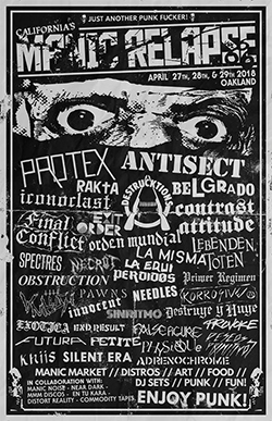Antisect Oakland 2018 Flyer