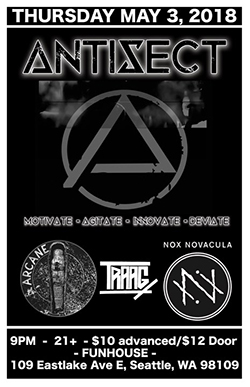 Antisect Seattle 2018 Flyer
