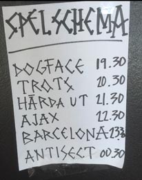 Antisect Verket Stage Times
